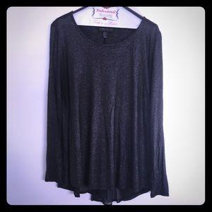Metallic long sleeve blouse